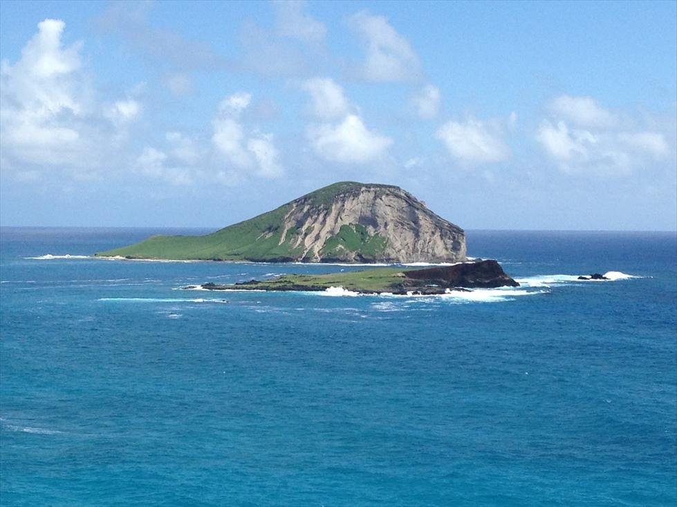 マカプウ展望台からの景色 Rabbit Island