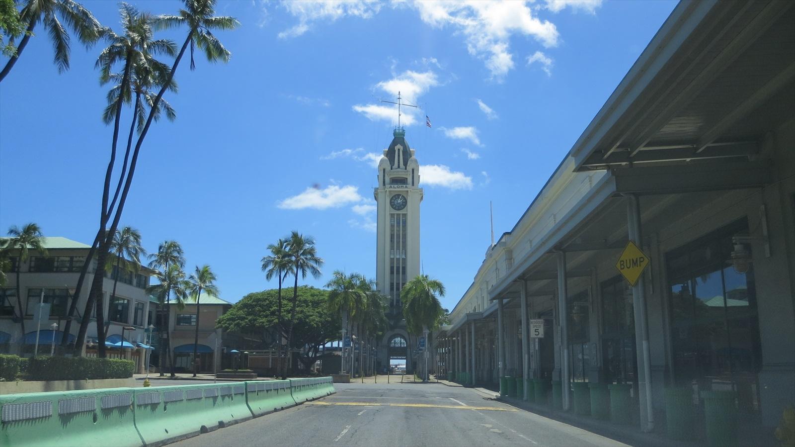 やっぱり景色は最高!Aloha Tower Marketplace