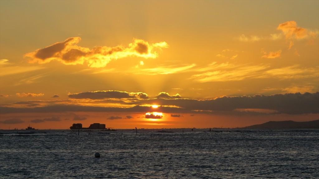 Sunset Time In Waikiki